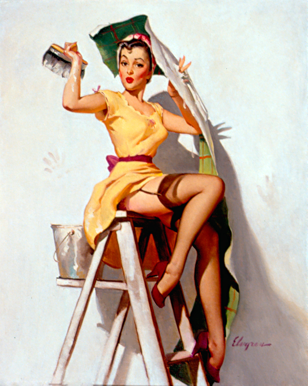 Vintage 1950/'s Pin Up Girl 38  Poster A3//A2 Print